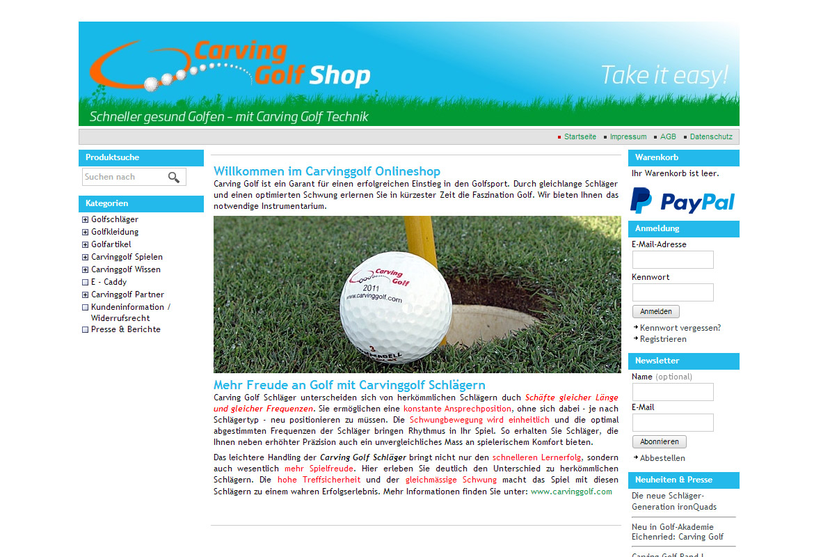 Carvinggolf Onlineshop